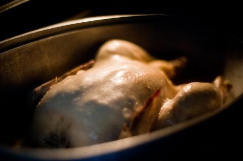 Картошка с грибами и курицей в горшочке в духовке рецепт с фото пошагово